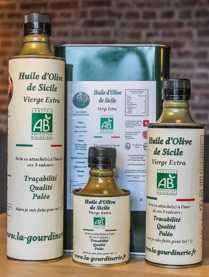 Huile d'olive bio de Sicile | La Gourdinerie